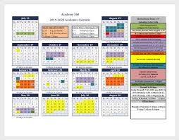2019 2020 Academic Calendar Back To School Important Info
