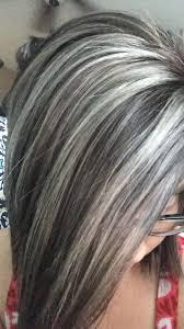 Gray And Black And Silver Hair Haarkleuren Grijs Haar Highlights