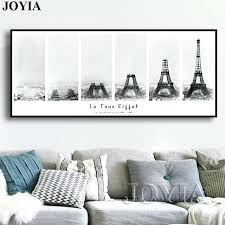 eiffel tower wall art vintage wall art tower construction process banner canvas painting print gray picture eiffel tower wall art