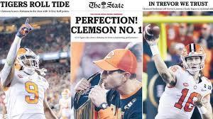 clemson football get newspaper front