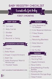 Baby Supplies Checklist Baby Registry Checklist Essentials For Baby First Three