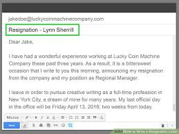 How To Write A Resigning Letter How To Write A Resignation Letter With Sample Wikihow
