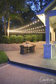 tips for hanging outdoor string lights