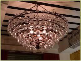 wine glass chandelier round