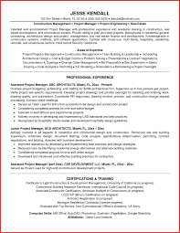 Project Management Sample Resume New Project Manager Resume Resume