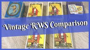 <b>Vintage</b> RWS Deck Comparison - Blue Box, Blushing Fool, Sunburnt ...