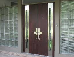 contemporary double front door designs with with side glass panels
