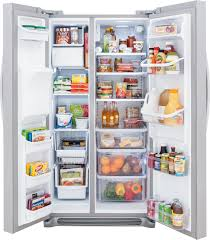 Largest Capacity Refrigerator Fghs2355pf Frigidaire Gallery 23 Cu Ft Side By Side Refrigerator