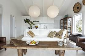 lovely paper lantern style lights add to the living room ambiance from michael wickham