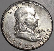 1961 Half Dollar Value Chart 1961 Franklin Half Dollar Liberty Bell Coin Value Prices