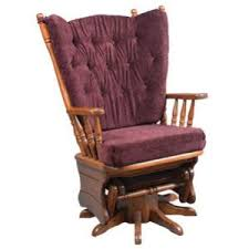 swivel and rocking chairs. Amish Heritage High Back Four-Post Upholstered Glider With Swivel (Shown In Oak) And Rocking Chairs E