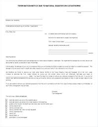 Contract Termination Notice Template Tenant Rental Letter