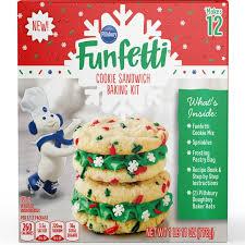 1 roll (18 oz) pillsbury® refrigerated sugar cookies. Pillsbury S Funfetti Christmas Tree Cookie Kits Popsugar Food