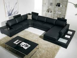 amazoncom  t  black bonded leather sectional sofa with