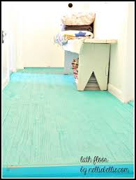 Cheap DIY flooring idea using lath (usually a lumber yards cheapest wood)  and painting