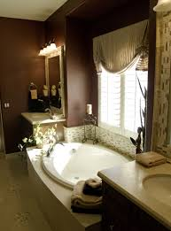 Delightful Luxury Master Bathroom Designs With Wooden Cabinet And - Luxury bathrooms pictures