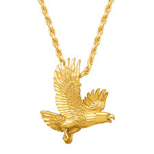 image is loading men 039 s bald eagle pendant necklace in