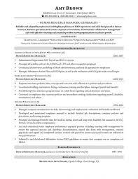 Hr Manager Resume Samples Resume Sample For Hr Manager Study Professional Human Resources Pdf 6