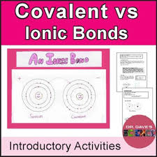 Ionic Vs Covalent Bonds Venn Diagram Ionic Vs Covalent Bonds