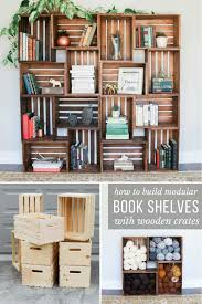 by using 4 wooden crates that are available at michael s joann s or you can build yourself a diy yarn storage system in a weekend