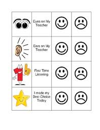 Behavior Smiley Chart Smiley Face Behavior Chart