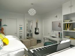 Bedroom: Inspiring Modern Bedroom Design With Music Themed - Office Room