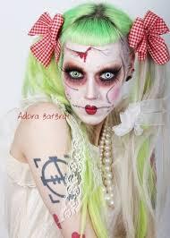 evil rag doll makeup