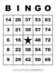 Free Printable Number Bingo Card Generator School Pinterest