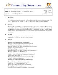 Sample Civil Complaint Form Unique 4848 Barking Dog Civil Citation Procedure