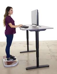 the wurf board a portmanteau of work and surfboard one assumes is an inflatable pad that moves under your feet like a surfboard while you standing