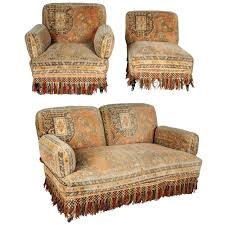 Tapestry Sofa Living Room Furniture 19th Century Au Bon Marchac Moorish Tapestry Sofa And Chairs Set