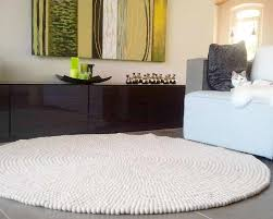 round rugs 90cm 120cm white woolen
