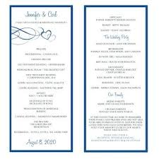 Free Template Wedding Program Microsoft Word Program Template