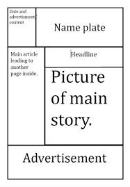 Newspaper First Page Template Article Layout Template