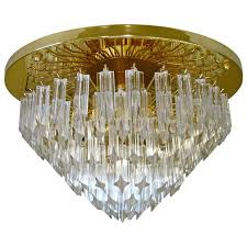 flush mount chandelier crystal huge glass prism for with drum shade flush mount chandelier crystal