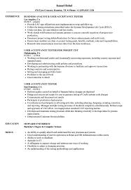 User Acceptance Tester Resume Samples Velvet Jobs