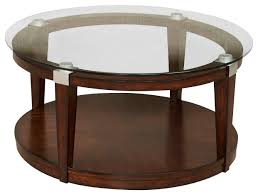 dark brown coffee table. Hammary Solitaire 2-Piece Round Coffee Table Set In Rich Dark Brown I
