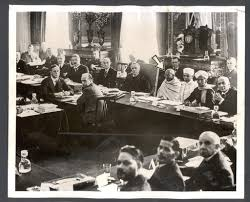 the second round table conference held in london 1930 the arrow points to gandhi