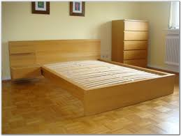 image of ikea malm bed frame wood