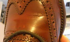 corrected grain leather usually show s on the surface of the leather rather than gentle creases