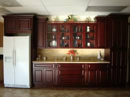 modern kitchen cabinets cherry. Kitchen. . Large Brown Polished Wooden Cherry Kitchen Cabinet With Cream Countertop And Backsplash On Modern Cabinets