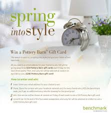 pottery barn gift card sweepstakes