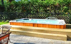 sun room or indoor installations are great if you want to use the swim spa all year round or find your backyard or patio area may not be suitable for a swim