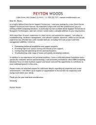 Best Client Server Technician Cover Letter Examples Livecareer