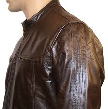 jerez mens brown leather jacket