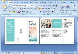 Microsoft Word Pamphlet Brochure Templates For Microsoft Word 2013 Brochure Template In