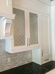Etched Glass Cabinet Door Inserts