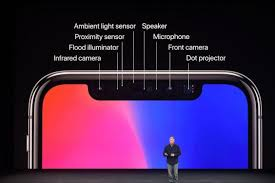 iphone notch. the smartphone features an edge-to-edge oled display, but one of most striking details is tiny \u201cnotch\u201d at top phone, which intrudes iphone notch