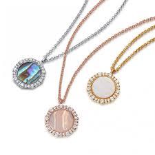 pendant necklace rose gold vermeil previous