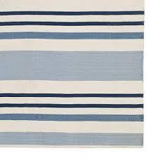 blue and white striped rug williams sonoma home printed tered stripe rug design pictures